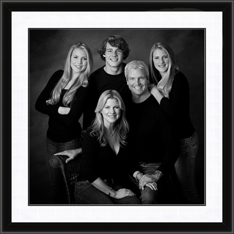 Schedule a studio black and white portrait session between april 1st and may 16th and receive our classic black framing complete with matting free with